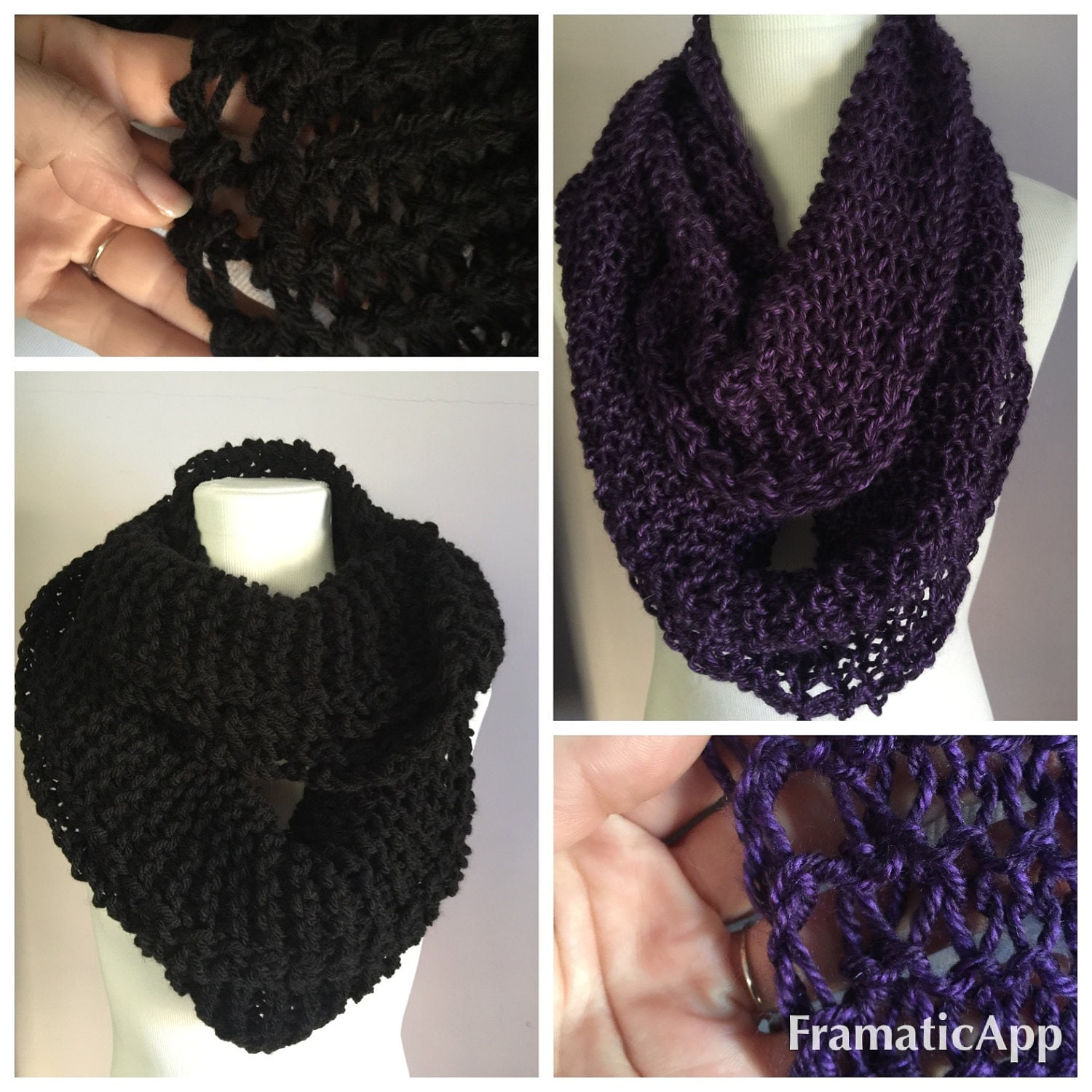 Starlight Knits Boutique Infinity Scarves