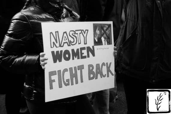 Resist, #nastywomen, B&W Photograph, #whyImarch, fine art, photo print, #shepersisted, wall art, home decor, protest, #womensmarch, new york