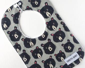Baby Bib - Teddy Bear Bib - Baby Gift - Baby Accessory - Bibs and Burping - Bib - Baby Shower Gift - Bib - Gender neutral bib