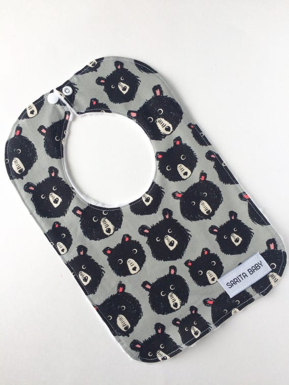 Baby Bib - Teddy Bear Bib - Baby Gift - Baby Accessory - Bibs and Burping - Bib - Baby Shower Gift - Bib - Gender neutral bib
