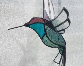Hummingbird Rufus 3D Stained Glass Suncatcher