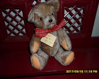 12 Inch Mohair Teddy Bear Purchased in 1970 at The Prince Of Whales Hotel In Canada