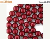 HOLIDAY SALE Pearl 10mm Bordeaux, Swarovski® crystals, Bordeaux, 10mm round (5810). Sold per pkg of 10