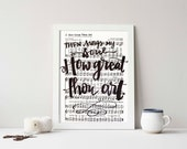 How Great Thou Art Hymnal Art Digital Art DIY Printable Hand Lettered Typography Art Worship Lyrics Black and White