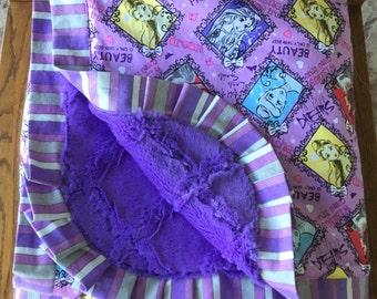 Disney Princess Blanket- HUGE Minky Lap Blanket - Personalization Available