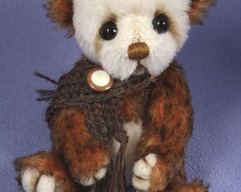 YANG- One of A Kind Artist Bear, Collectable Mohair Bear, by Valewood Bears