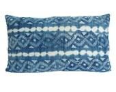 Vintage African Indigo Mudcloth Pillow | SAILING 12x20