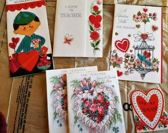 10 Vintage Valentine Cards for Teacher from the 1950s