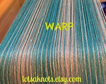 Turk blue Shawl-weaving kit-loom-handwoven- turquoise blue stripes-weaving-handmade