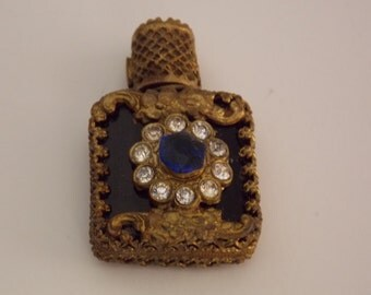 FREE SHIPPING - Purse Size Czechoslovakian Perfume  Bottle