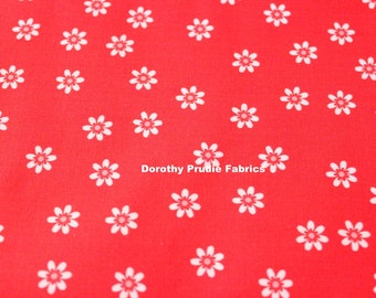 FABRIC SEW CHERRY 2 Red Floral   Fat Quarter   We combine shipping