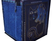 Home Storage Organizer in Laurel Burch Cats Fabrics