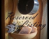 Reserved for Hollie / Custom Bathroom Shelf Mason Jar Storage Hand Towel Shelf with Rod