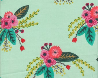 Windham Fabrics Meriwether Bouquet in Mint Green - Half Yard