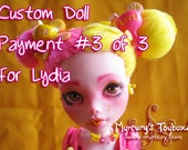PRIVATE LISTING for Lydia - ~*Zestie*~ - Custom Monster High Draculaura Doll as Pink Lemonade Cutie!! Payment 3 of 3