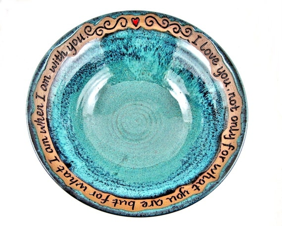 9th Anniversary Pottery For Wedding: Pottery Serving Bowl Pottery 9th Anniversary By