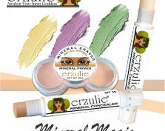 Natural Mineral Correctors  Three Colors  Extra Coverage  Natural Makeup  Non-Comedogenic  Cream Concealer