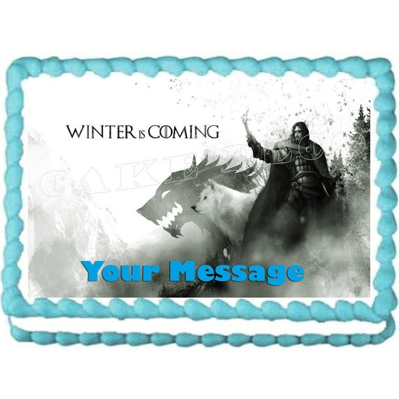 jon snow wedding cake topper of thrones jon snow winter is coming edible image cake 16610