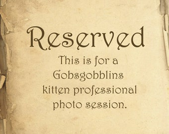Reserved ~ For Gobsgobblins
