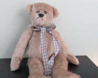 Sweet vintage handmade (Maine) stuffed bear- Chuffa Bear- Made in the Maine Woods