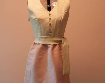 Vintage Dress - Evening Formal Pink Rhinestones Jonathan Logan 60s NWT's