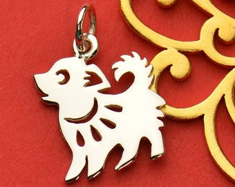 The Dog Necklace - Solid 925 Sterling Silver Chinese Zodiac Year of the Dog Charm - Insurance Included