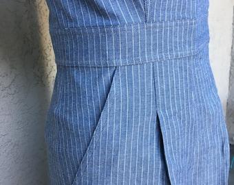 SALE Darling 1940s style Rosie overalls  S M L stripe
