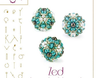 Beading tutorial / pattern Zed beaded bead Beading instruction in PDF – for personal use only