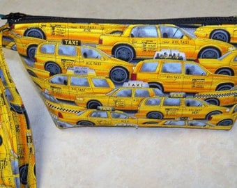 New York City Taxy Cab Wristlet Change Purse Makeup  Cell Phone Camera Case PADDED