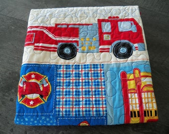 Baby Quilt Fire House Friends Baby Blankets Handmade Toddler Bedding Nursery Quilt