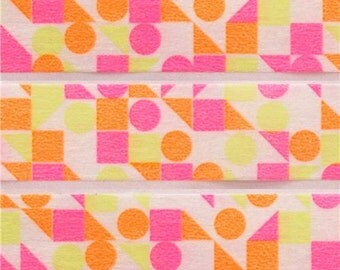 198407 mt Washi Masking Tape deco tape circle triangle square neon pink