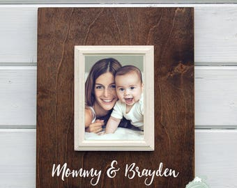 Mothers Day Gift, Personalized Mommy and Baby 5x7 Frame, Mother Gift, New Baby Gift, Gift for Mommy, New Mommy Gift