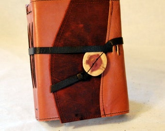 SUMMER SALE:  Medium Dusty Rose Leather Journal with Handmade Paper