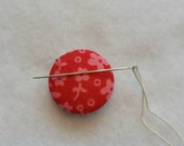 Fabric Needle Minder, Needle Minder, Needle Minder's, Sewing Supply,Sewing Supplies, Supplies, Button Cover