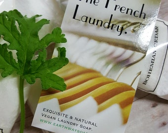 New Offering! Set of Six French Laundry Soap Samples.  VEGAN-HEALTHY-EFFECTIVE Now you can try out our best sellers and have fun doing it!