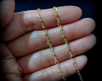 Gold Filled Chain, FIGARO Chain, Infinity Chain, Bridal Necklace, DIY Necklace, Minimalist Jewelry, Fancy Chain, Layering Chain