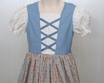 Girls size 5 Peasant Dress Renaissance Faire Swiss Miss Belle Heidi  Beauty and the Beast Dress up Theater Costume    Ready to Ship
