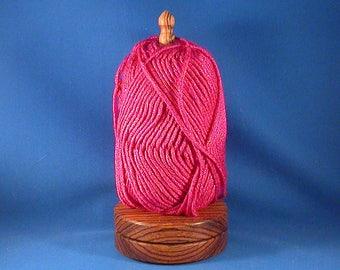 """Zebrawood Yarn/Thread Holder -  """"Natural Wax"""" finish"""