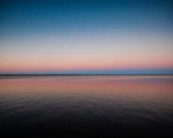 Gradient Pink & Blue Florida Sunset Fine Art Print - Travel, Scenic, Landscape, Nature, Home Decor, Zen
