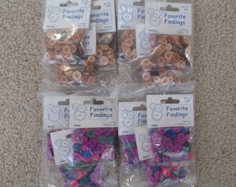 1560 Buttons, Natural and Jewel Tones, 6 packs of each color (12 packs total; 130 buttons each package)--brand new in original package