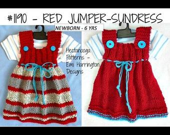 KNITTING PATTERN Dress,  baby and girl jumper, Easy beginner, flat knit, baby clothing, Sundress, #1190, baby shower gift