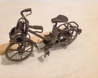 Antique French Miniature Solex Style Motorized Bike, Motorcycle, SALE, Get 25% OFF, Use coupon code 25percentoffwow at checkout!