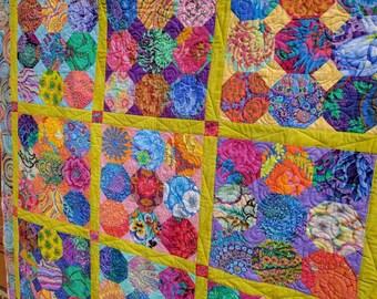 Kaffes Cut Flowers Quilt-Made with Kaffe Fassett fabrics