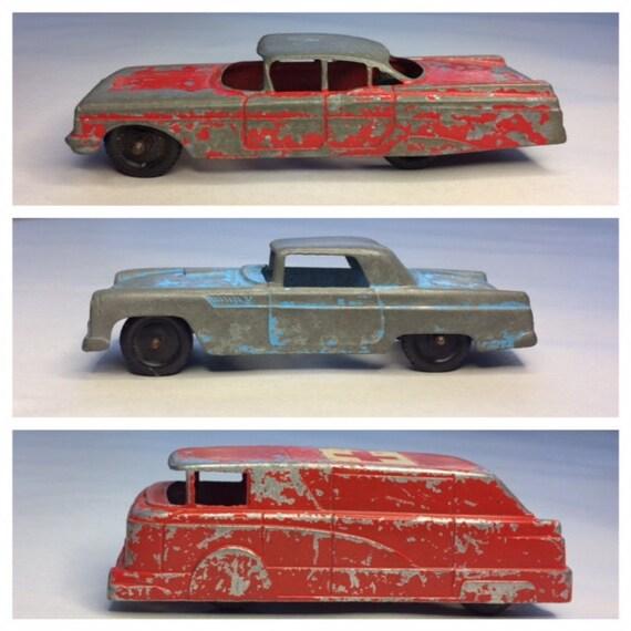 Vintage TOY CARS Tootsie Toy Midgetoy Ford Thunderbird