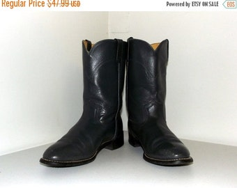 Gorgeous Grey Roper style cowboy Boots -- size 9 D or cowgirl size 10.5 to 11