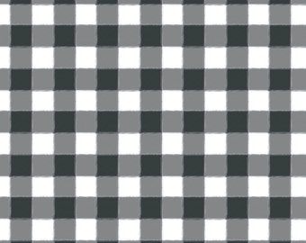 Dark Gray Plaid Fabric - Small Charcoal Buffalo Check Gingham By Sugarfresh - Dark Gray Cotton Fabric By The Yard With Spoonflower