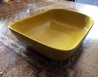"Franciscan Ware Tiempo Mustard Yellow 9"" Rectangular Serving Dish"