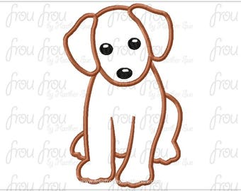 "Lab Dog Digital Embroidery Design Machine Applique 4""-16"""
