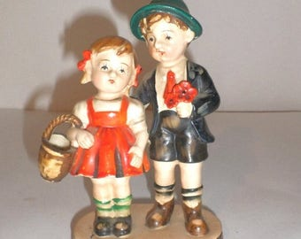 Blow Out Sale Vintage Figurine - Boy and Girl Hummelesque Figurine - Made In Occupied Japan - Collectible Figurine - Home Decor - Shelf Deco