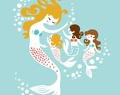 "8X10"" Mermaids for Marieke"